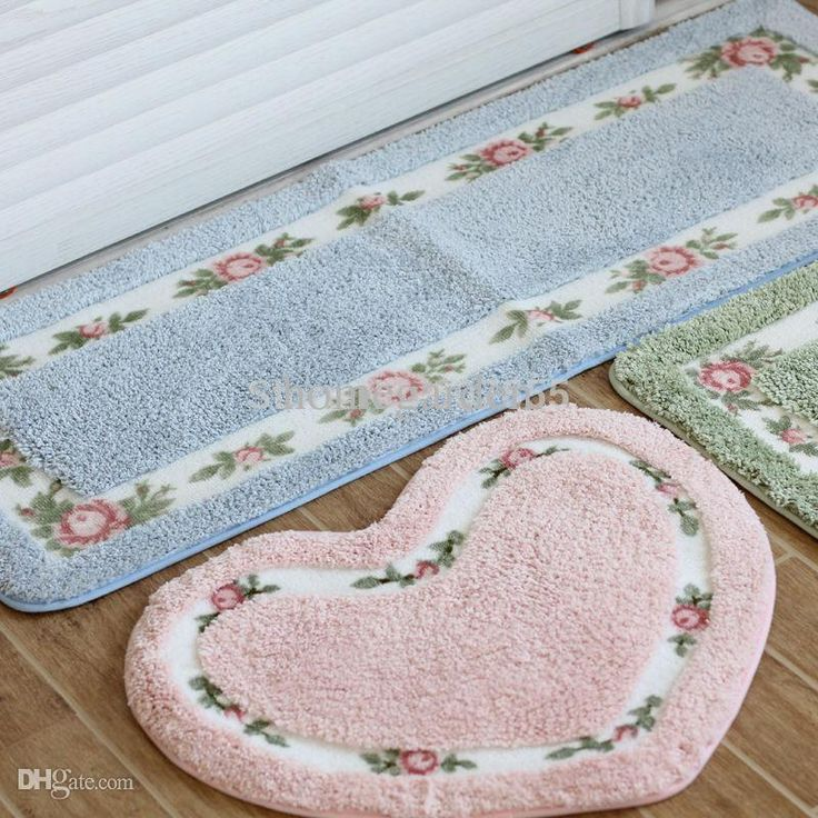Industrial Carpets Wholesale Bedroom Carpet Cute Flower Print Pastoral Style Heart Rectangle Shape Tapete Bathroom Absorbent Rug Non Slip Mats Carpet Carpet Installation Price From Homegarden, $14.21| Dhgate.Com