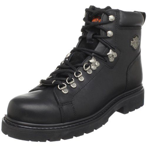 http://peakmomentum.org/?qpn-pinnable-post=harley-davidson-mens-dipstick-safety-toe-bootblack7-w-us As tough as your Fat Boy (no not your kid, your bike, silly), these Harley Davidson 91610 Men's Black Leather Lace-Up Biker Boots are made for the demands of the open road. Sleek, rugged and ready to ride, this pair has Harley style to spare. The black full-grain leather uppers on these Biker Boots from Harley Davidson make them super-tough as well...