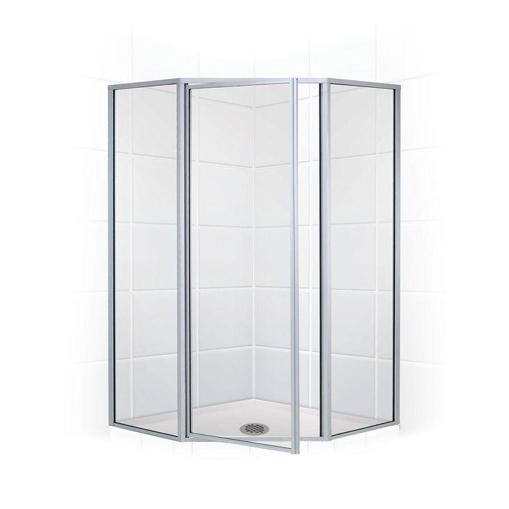 coastal shower doors legend series 54 in x 70 in framed neoangle