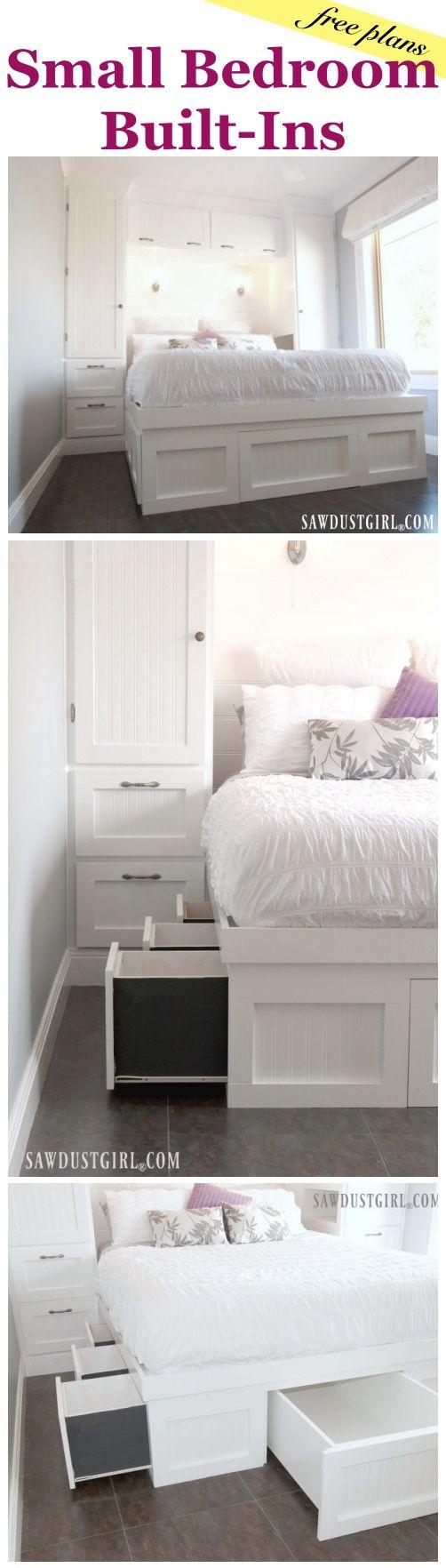 Platform Storage Bed and Wardrobes - free plans!