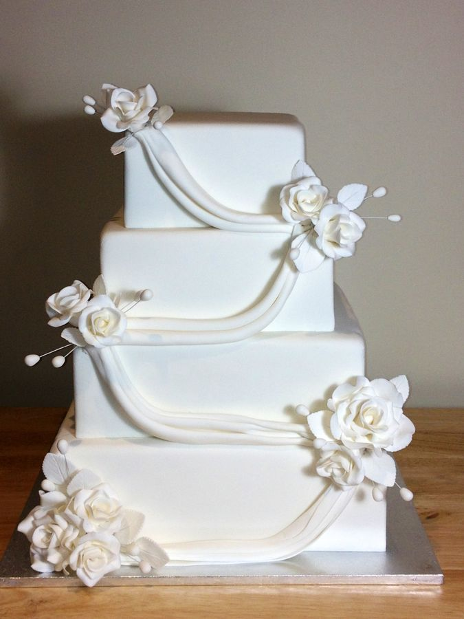 Rectangle Wedding Cakes Square Wedding Cakes In 2019 Wedding Cakes Square Wedding Cakes
