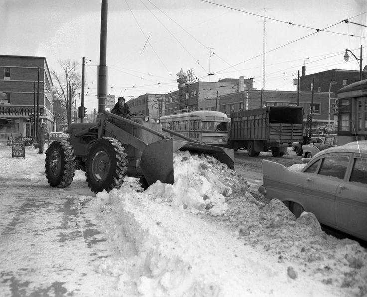 Déneigement à Montréal: un retour dans le passé en photos