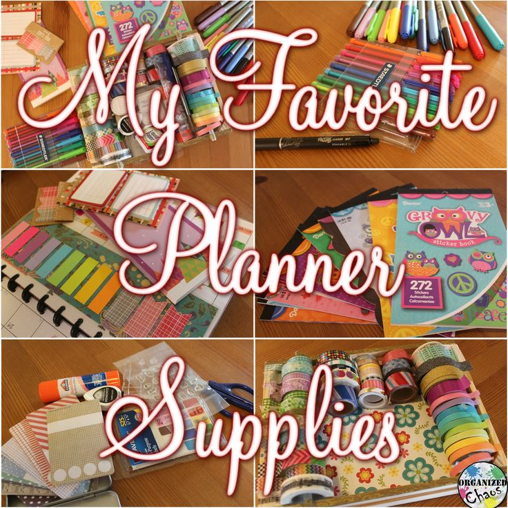 Organized Chaos: Mommy Monday: my favorite planner supplies! Washi tape, sticky notes, DIY planner stickers with stamps, pens, $1 sticker books. Great cheap and easy ideas for life planners and teacher lesson planners!