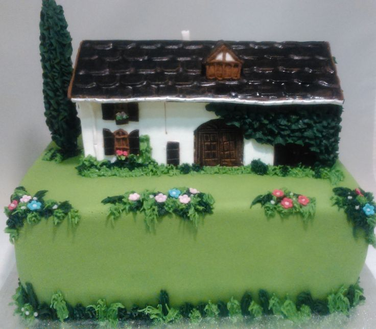 Casa hecha con pastillaje.