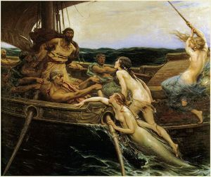 Ulysses And The Sirens - - (Herbert James Draper)