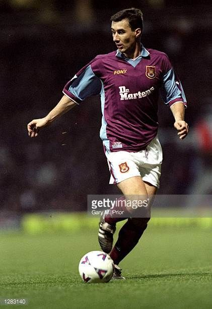 Marc Keller of West Ham United on the ball against Everton in the FA Carling Premiership match at Upton Park in London West Ham won 21 Mandatory...
