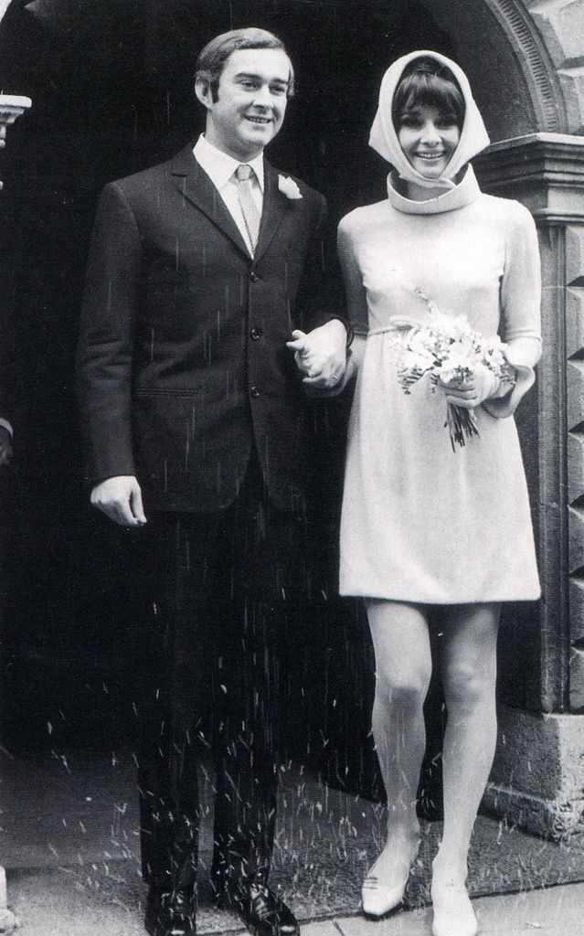 Audrey Hepburn and new husband Dr. Andrea Dotti on their wedding day, January 18, 1969.