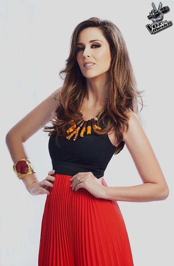 Jacqueline Bracamontes, the host of the television series The Voice Mexico or La Voz... México.