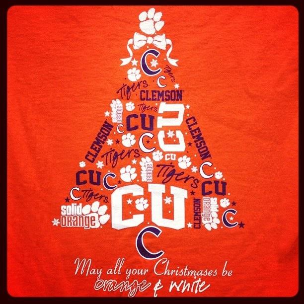 Clemson Christmas Tree: CLEMSON TAILGATIN'! GO TIGERS!