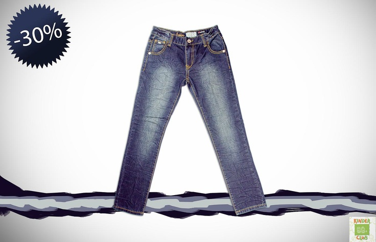 Σετ αγόρι 6 - 16 ετών:   Τζιν παντελόνι με ιδιαίτερη επεξεργασία
