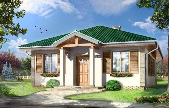 Projekt Urwis to parterowy dom dla czteroosobowej rodziny. Przekryty czterospadowym dachem, zbudowany na planie prostokąta. Budynek jest przeznaczony do realizacji na wąskiej działce. Dzięki wejściu do budynku od węższej strony, dom ma szerokość niewiele ponad 8 metrów i mieści się na piętnastometrowej działce.