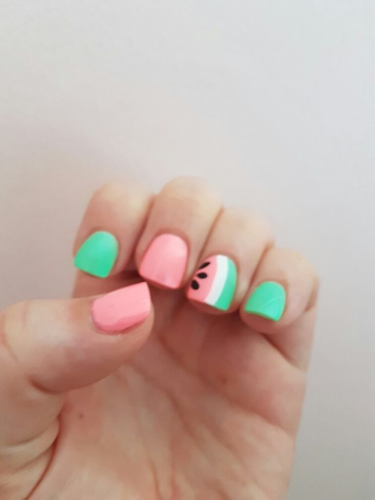 Best 25 watermelon nail art ideas on pinterest watermelon nail watermelon nail art prinsesfo Images