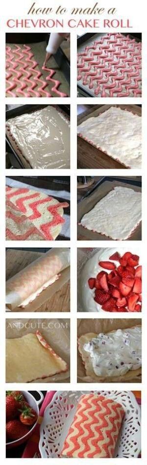 Chevron cake roll by Rana Aljabban