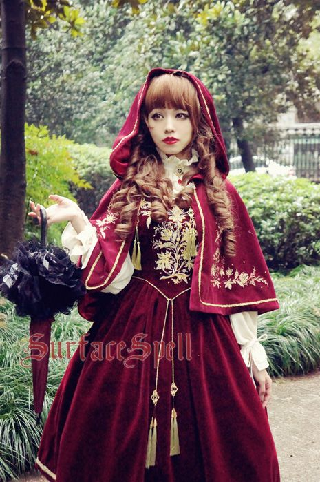--Newly Added II: Bourbon Dynasty Series Baroque Embroidery Lolita Cape  --Custom Sizing Available >>> http://www.my-lolita-dress.com/bourbon-dynasty-series-baroque-embroidery-lolita-cape-ssp-92