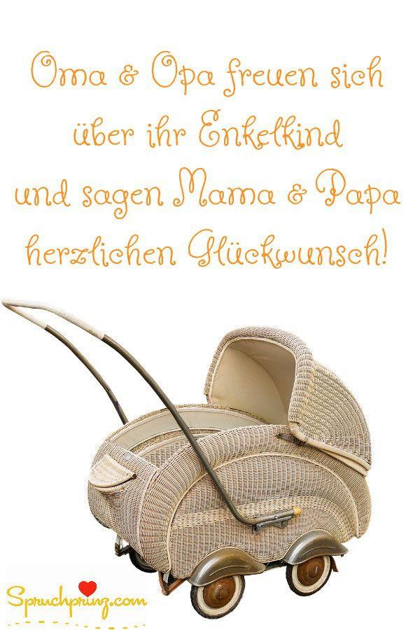 Glückwünsche zur Geburt von Oma und Opa | Glückwunsch zur ...
