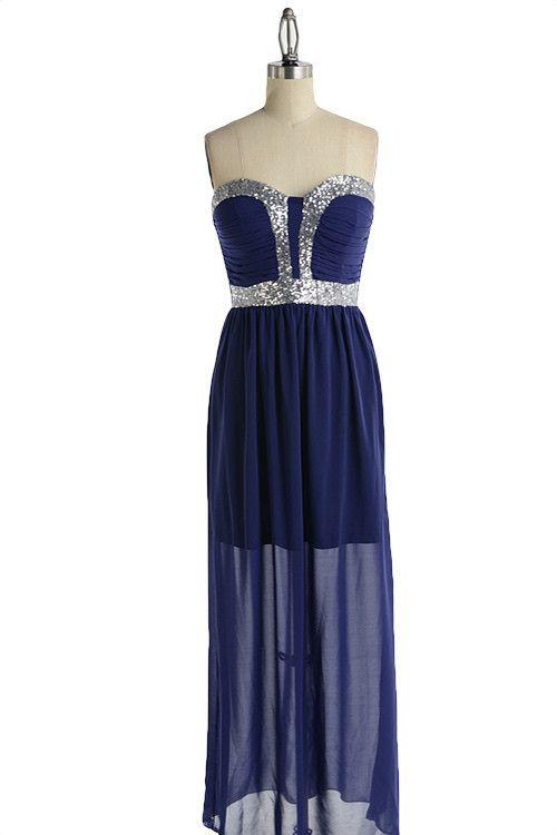 Anastasia dark blue dress