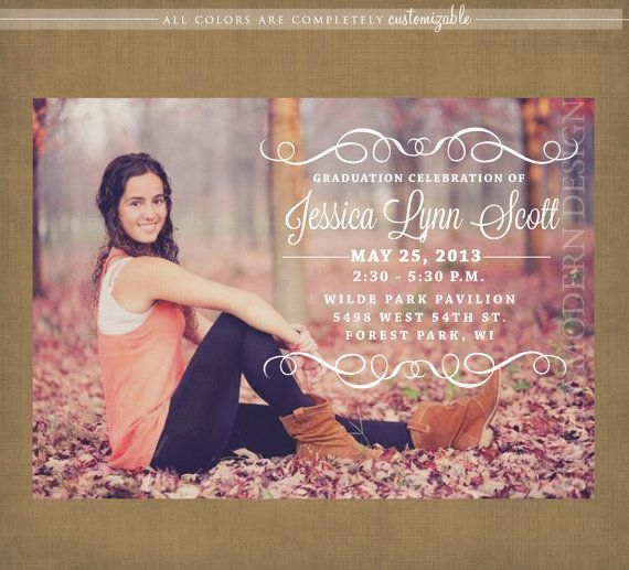 elegant graduation announcement or by xSimplyModernDesignx on Etsy