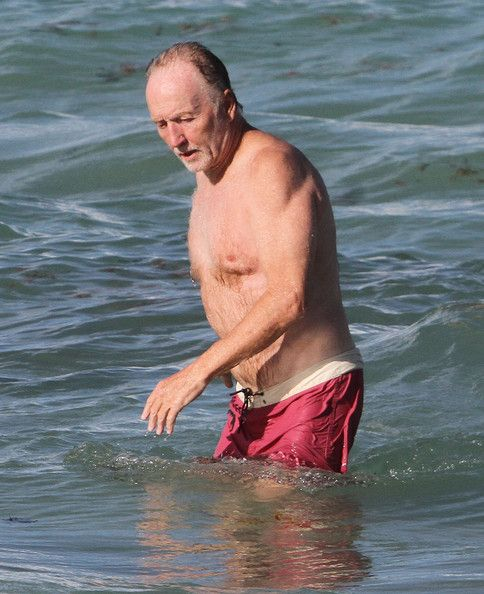 Tobin Bell Photos Photos - 'Saw' actor Tobin Bell, his wife and son enjoying a day on the beach while on vacation in Miami, Florida on August 9, 2012. - Tobin Bell And Family Enjoying A Day At The Beach