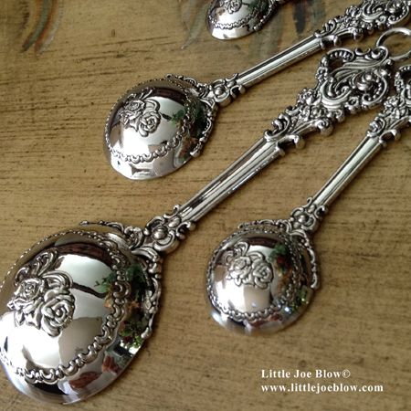 VICTORIAN - Measuring Spoons | Sold by Little Joe Blow Ind.   http://littlejoeblow.com/VICTORIAN-measuring-spoons-ganz.html
