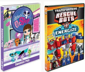 Littlest Pet Shop & Transformers Rescue Bots DVD Combo Pk US/CAN 8/2