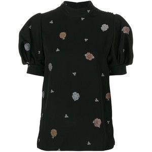 Chloé funnel neck floral blouse