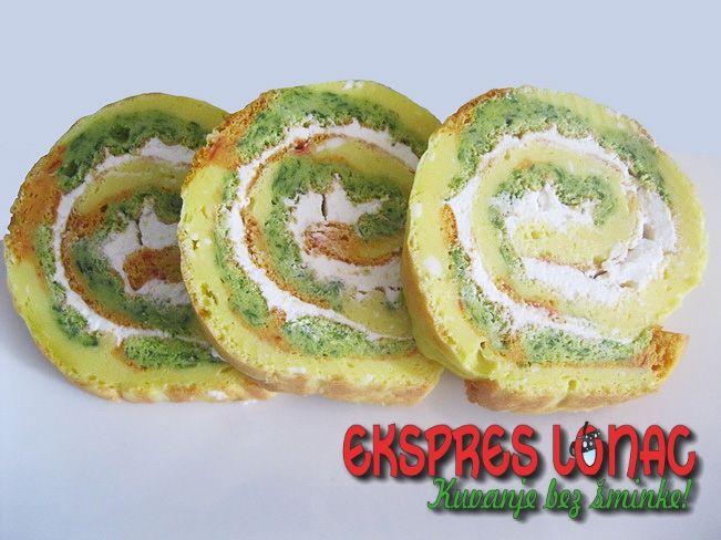 Colorful roll with cheese / Šareni rolat sa sirom