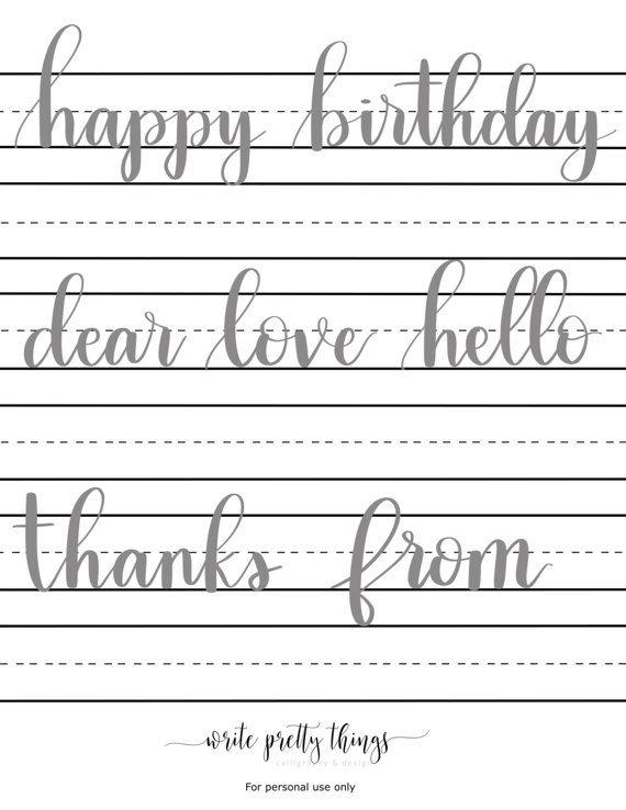 The best lettering guide ideas on pinterest script