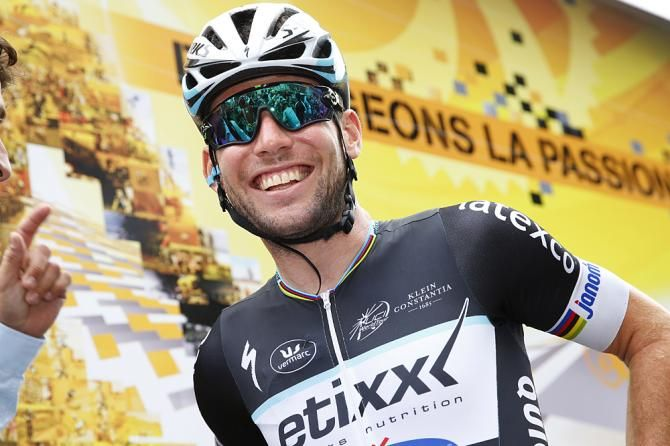 TDF stage 8 Mark Cavendish still smiling after his stage win (Bettini Photo)