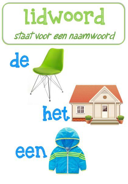 Poster taal: lidwoord © Sarah Verhoeven
