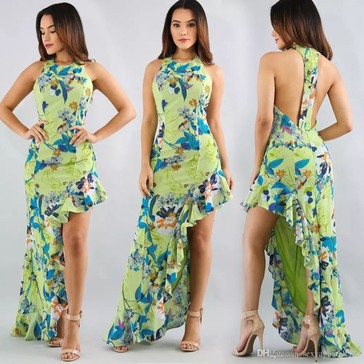 Hot Sale Europe Style Sexy Ladies Dress Nightclub Digital Printing Irregular Ruffled Maxi Dresses with Sleeveless for Womens Off Shoulder Dress Plus Size Dresses Plus Size Women Clothing Online with $25.15/Piece on Sexyapparelclub's Store | DHgate.com