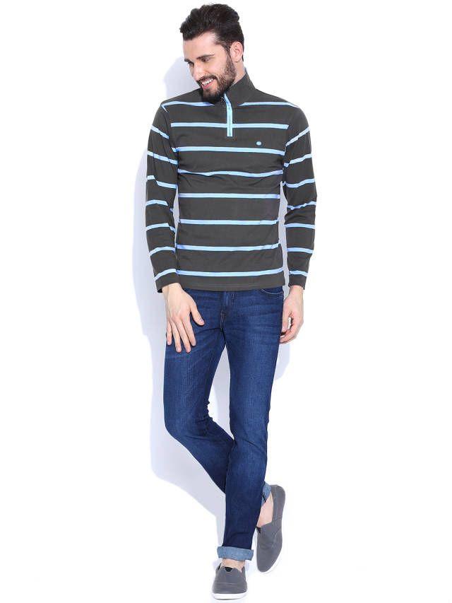 Dream of Glory Inc. Grey Striped T-shirt