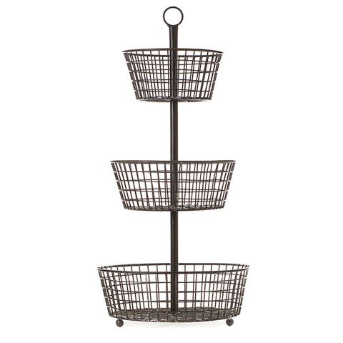 Tiered Wire Basket - lake house kitchen