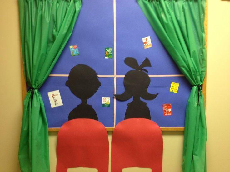 Dr. Seuss Bulletin Board Ideas | Dr Seuss bulletin board (Done by my director!) | It's the Elementary ...