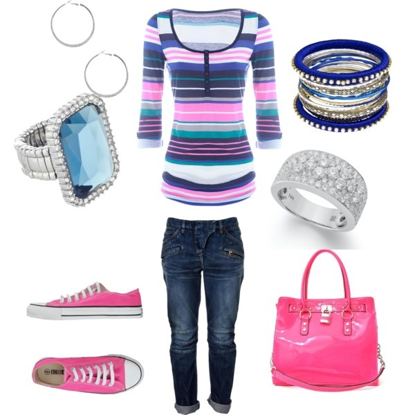 """Casual and Pink"" by mswhit62 on Polyvore"