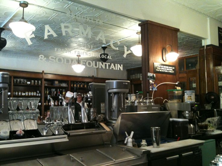 115 best images about old fashion soda shops on pinterest for Old fashioned pharmacy soda fountain