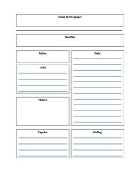 graphic organizer for writing a news story