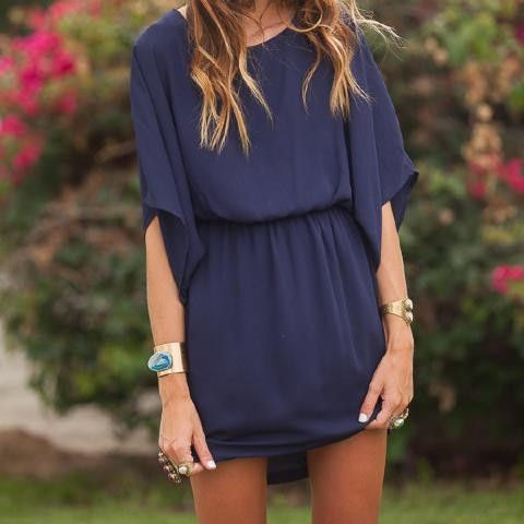Kimono Dress-would be awesome with an infinity scarf or necklace!!
