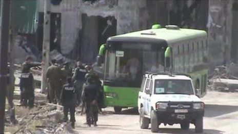 Syria conflict: Rebels evacuating Old City of Homs BBC