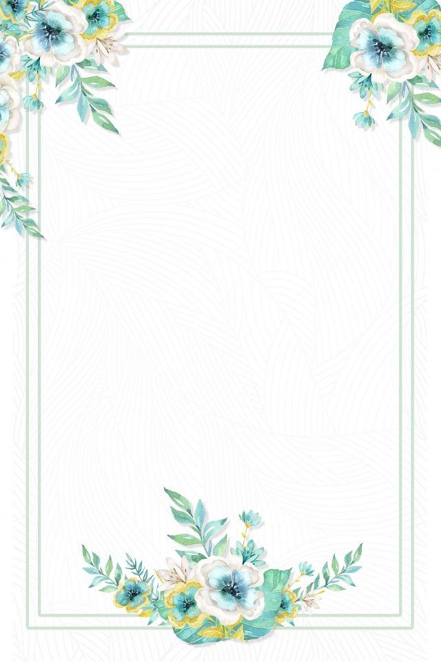 Ruchnaya Rospis Cvetok Prostoj Literaturnyj Priglasitelnyj Bilet Flower Painting Flower Background Wallpaper Floral Poster