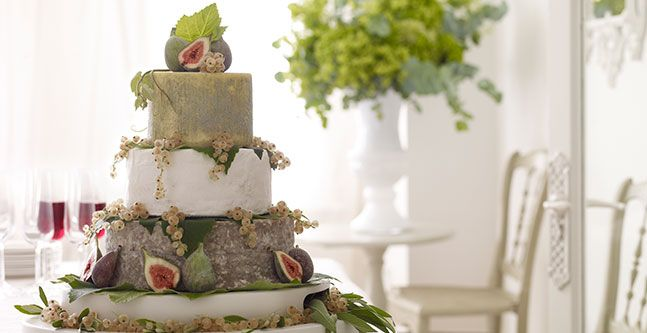 john lewis wedding cake wedding cake made from cheeses garnished with fresh figs 16605
