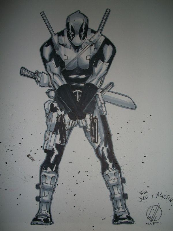 #Deadpool #Fan #Art. (Deadpool) By: MatteoLolli. (THE * 5 * STÅR * ÅWARD * OF: * AW YEAH, IT'S MAJOR ÅWESOMENESS!!!™) [THANK U 4 PINNING!!!<·><]<©>ÅÅÅ+(OB4E)