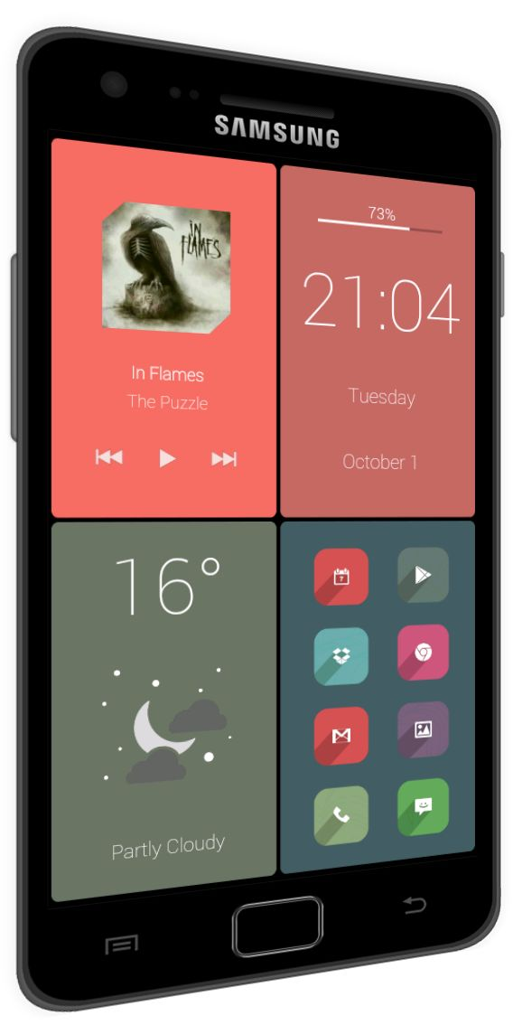 Android home screen design