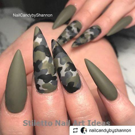 30 große Stiletto Nail Art Design-Ideen 1 #nails – Stiletto Nails