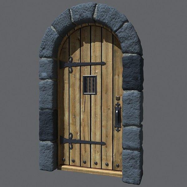 Medieval Front Doors: 3D 3ds Castle Door Front