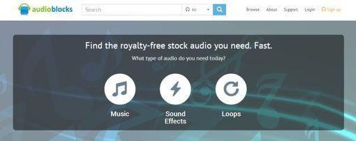 AudioBlocks, plataforma de recursos sonoros para incorporar en proyectos