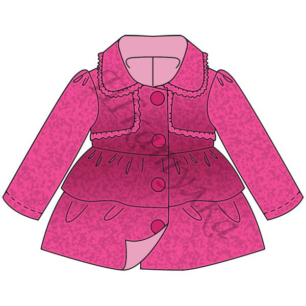 Coat - Free pdf pattern - gratis Schnittvorlage - choose size (80, 86 or 92 ) then click the green link to get the free pdf pattern