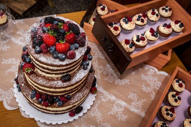 Zdenka & Tomáš 6.8.2016 | Naked Cake, Wedding Cupcakes
