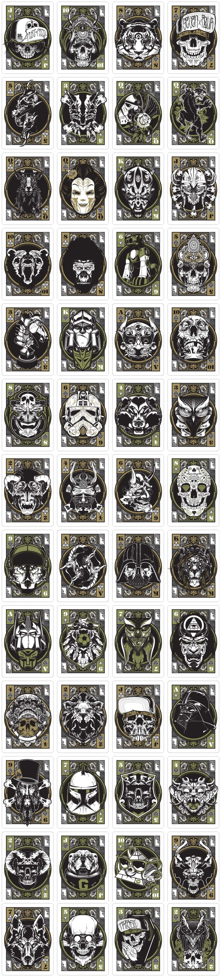playing cards #skull