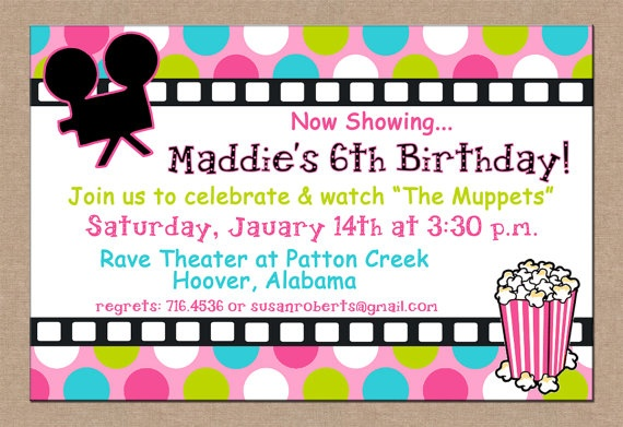 theater invitations