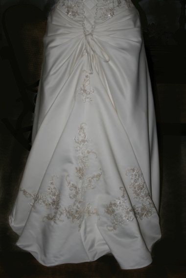 Bustle wedding dress bustle and wedding dressses on pinterest for Wedding dress train bustle